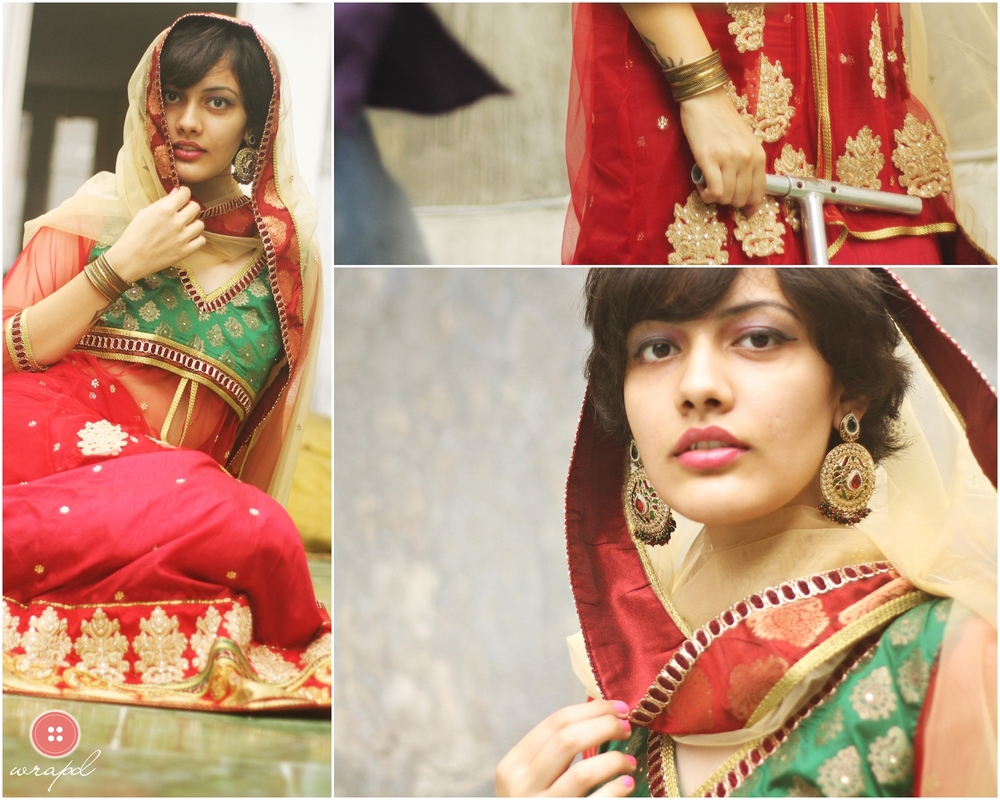 green_red_net_lehenga-wrapd